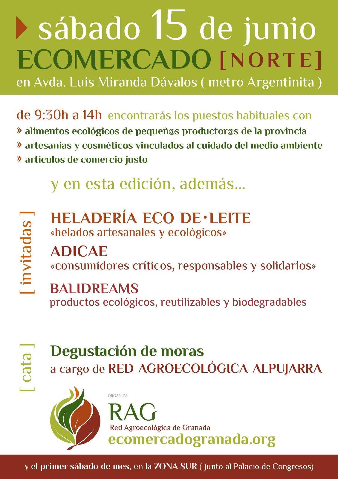 ADICAE Granada participará en el Mercado Agroecológico