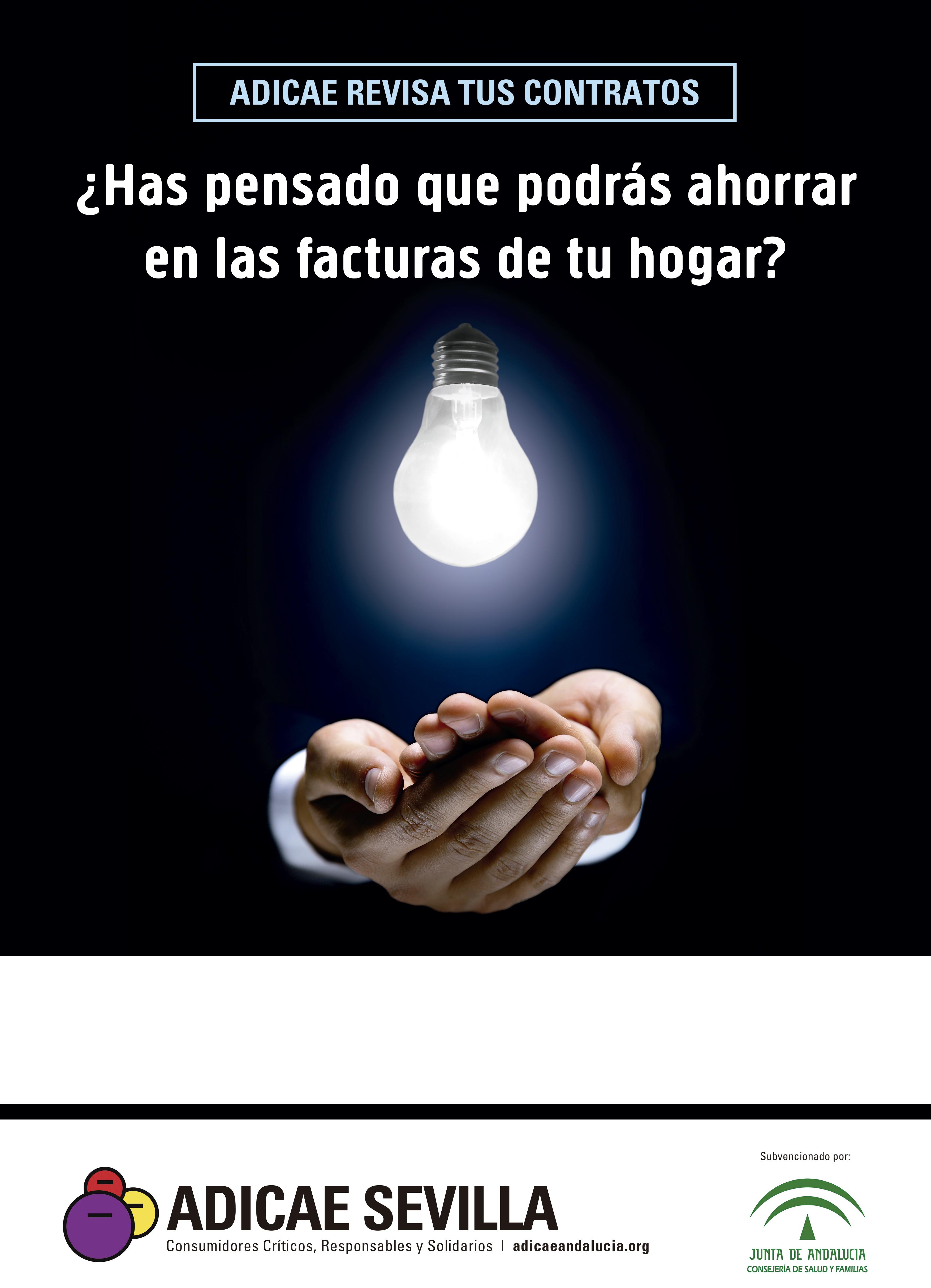 ADICAE Andalucía inicia su campaña de revisión de contratos eléctricos