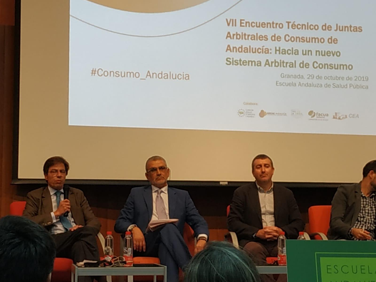 ADICAE participa en el VII Encuentro Técnico de Juntas Arbitrales de Consumo de Andalucía