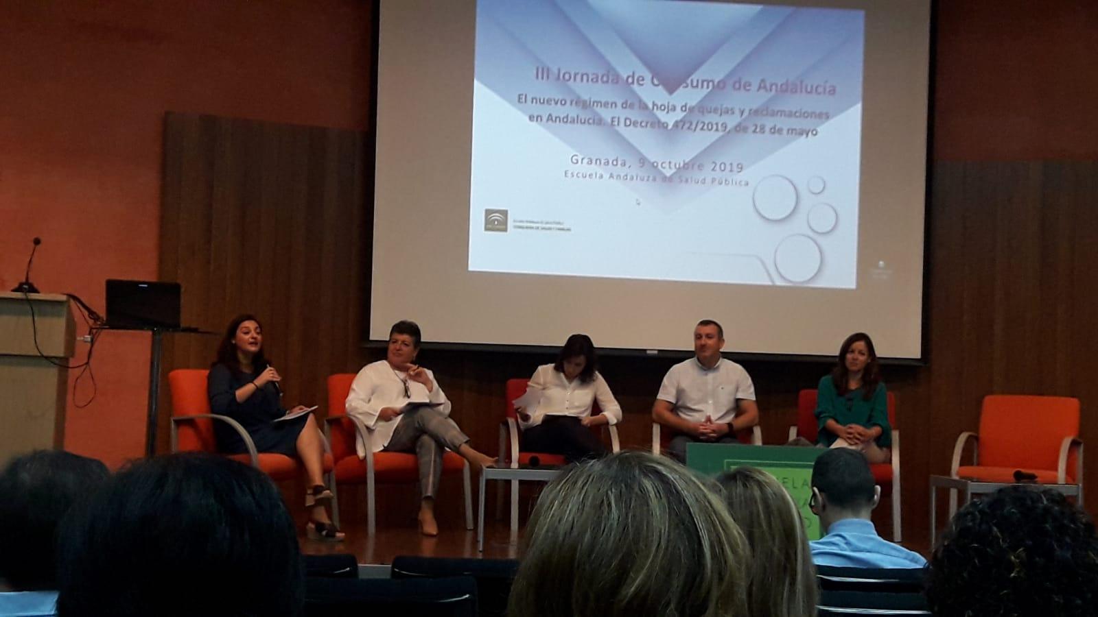 III Jornadas de Consumo de Andalucía sobre el nuevo régimen de las hoja de quejas y reclamaciones en Andalucía