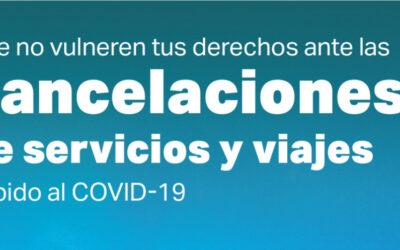 """GUÍA PRÁCTICA GRANADA (""""Que no vulneren tus derechos ante las cancelaciones de servicios y viajes debido al COVID-19"""")"""